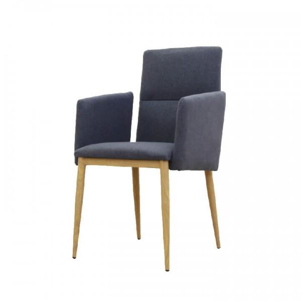 Jedálenská stolička, sivá/prírodná, JENNER