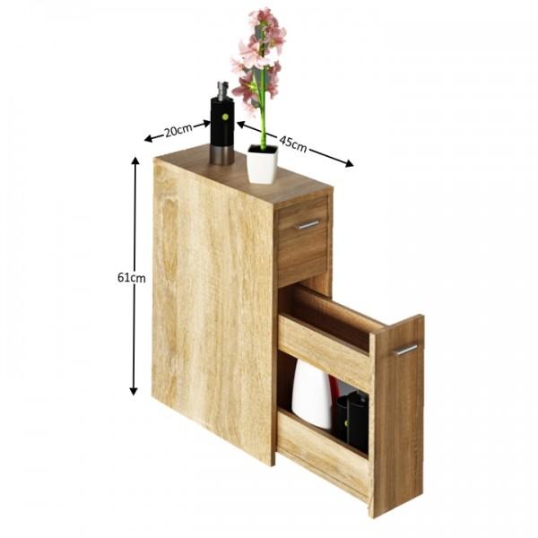 Kúpeľňová skrinka, dub sonoma, NATALI TYP 7