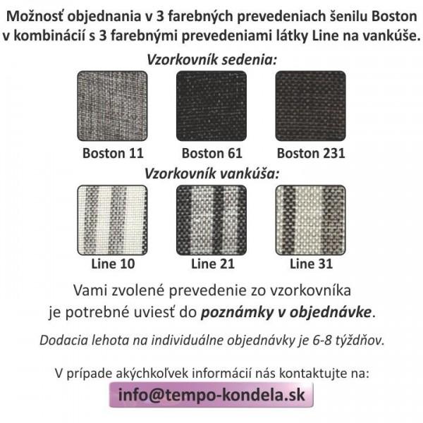 Rohová sedacia súprava, sivý melír/vzor, ľavá, MEXX
