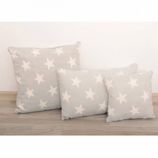 Vankúš, bavlna/vzor hviezdy, 30x30, NOVEL TYP 2
