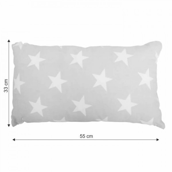 Vankúš, bavlna/vzor hviezdy, 55x33, NOVEL TYP 3
