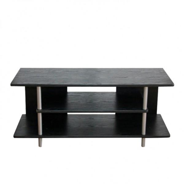 TV stolík, čierna/strieborná, QUIDO