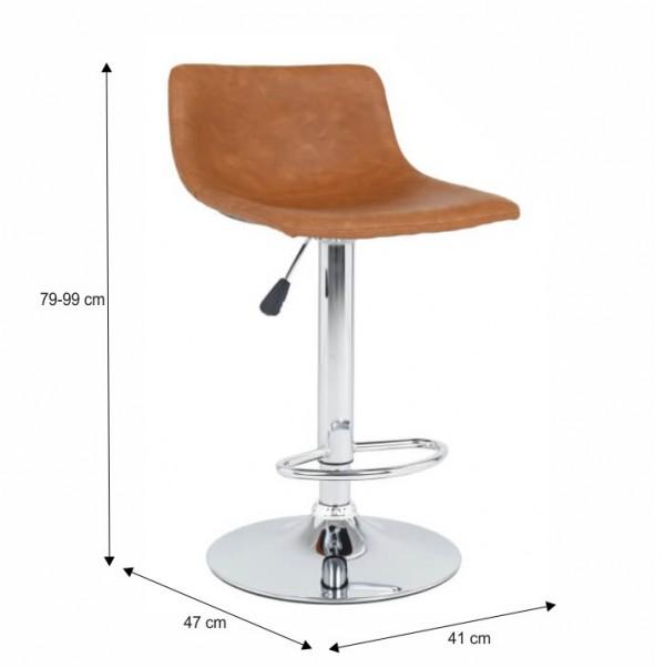 Barová stolička, svetlohnedá/chróm, EBRO