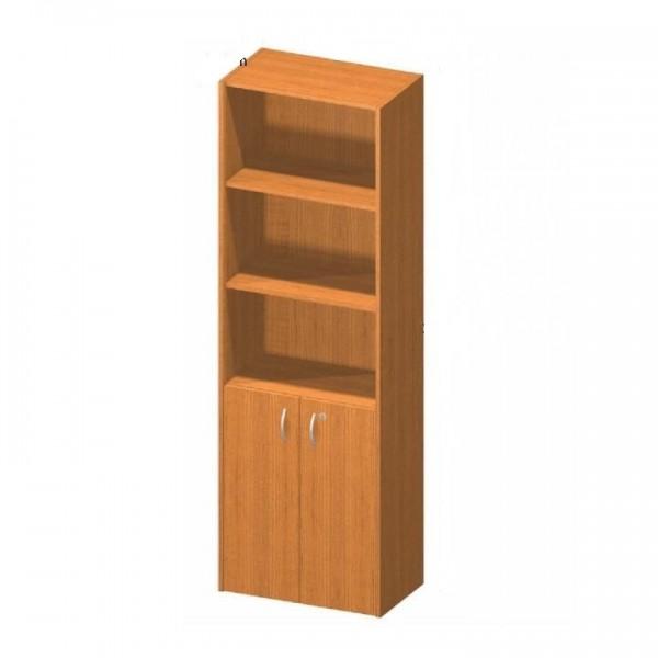 TEMPO KONDELA Kancelárska skrinka so zámkom, čerešňa, TEMPO ASISTENT NEW 002