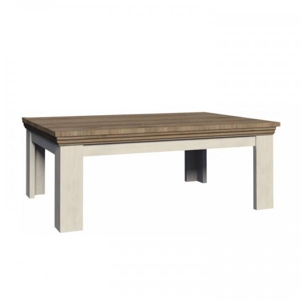 TEMPO KONDELA Konferenčný stolík, sosna nordická/dub divoký, ROYAL LN2