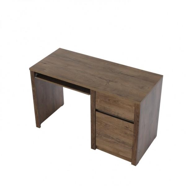 TEMPO KONDELA PC stolík, dub lefkas tmavý, MONTANA B1