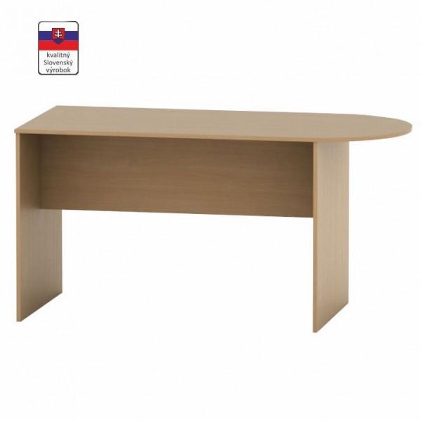 TEMPO KONDELA Zasadací stôl s oblúkom 150, buk, TEMPO ASISTENT NEW 022