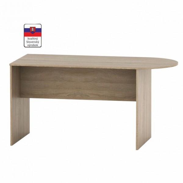 TEMPO KONDELA Zasadací stôl s oblúkom 150, dub sonoma, TEMPO ASISTENT NEW 022