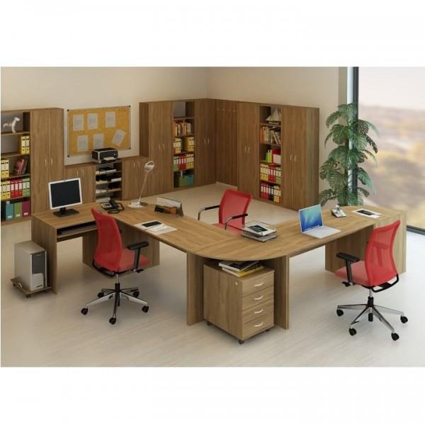 Písací stôl s výsuvom, bardolino tmavé, TEMPO ASISTENT NEW 023