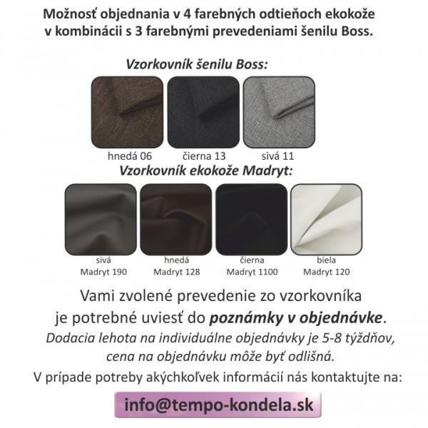 Taburet  s úložným priestorom, čierna/svetlosivá, MONAKO