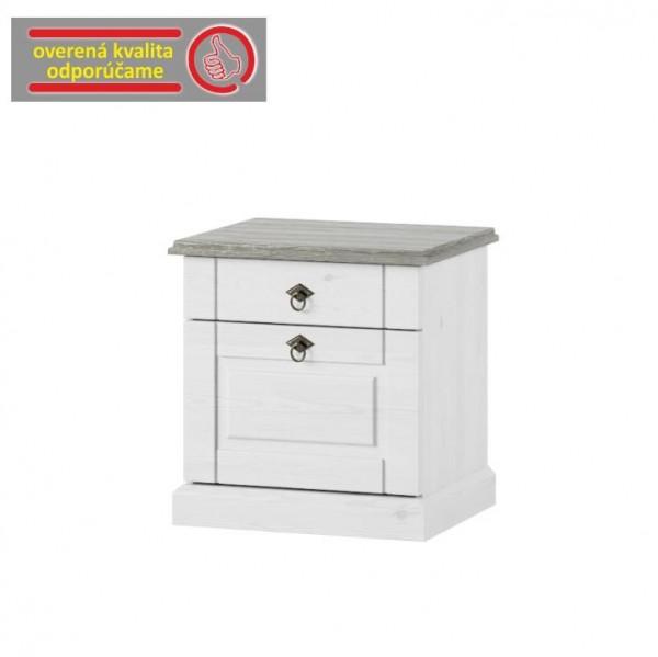 TEMPO KONDELA Nočný stolík, biela, LIONA LM 21