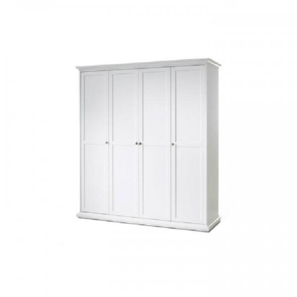 Vešiaková skriňa, biela, PARIS 4D 75354