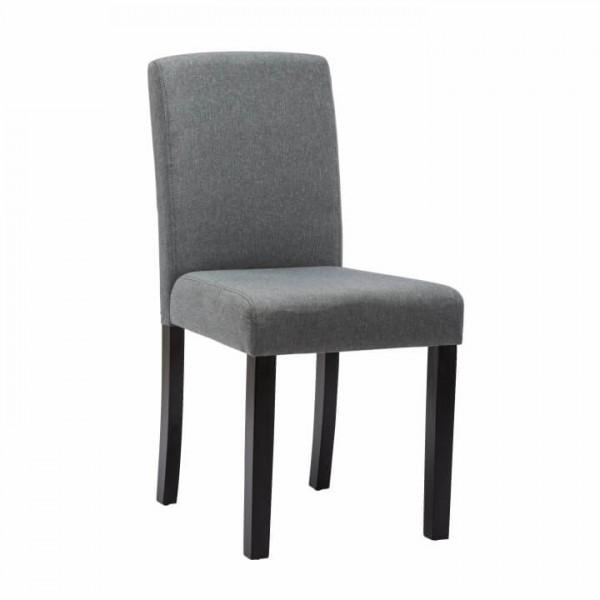 TEMPO KONDELA Jedálenská stolička, sivá/čierna, SELUNA