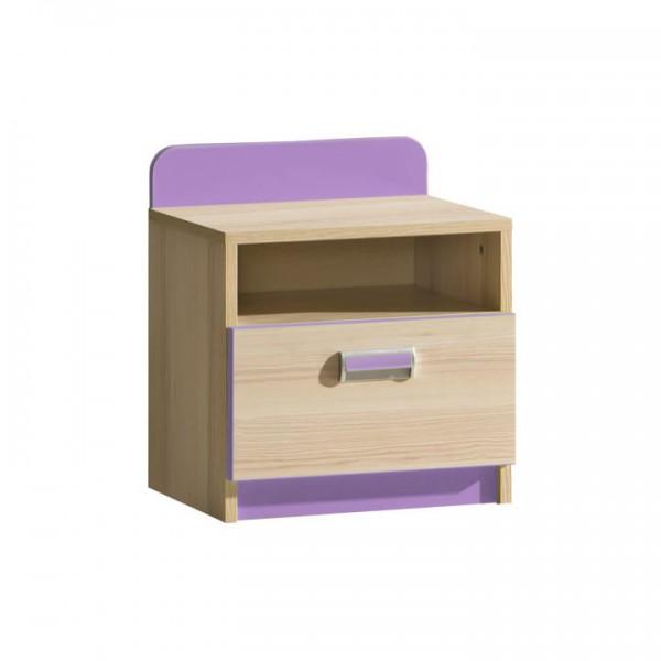 TEMPO KONDELA Nočný stolík, jaseň/fialový, EGO L12
