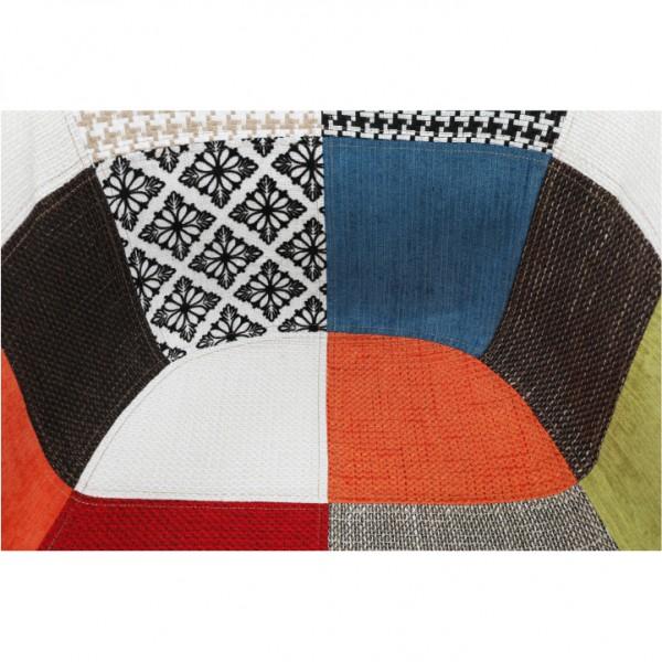 Kreslo, látka patchwork/buk, TOBO 3  NEW