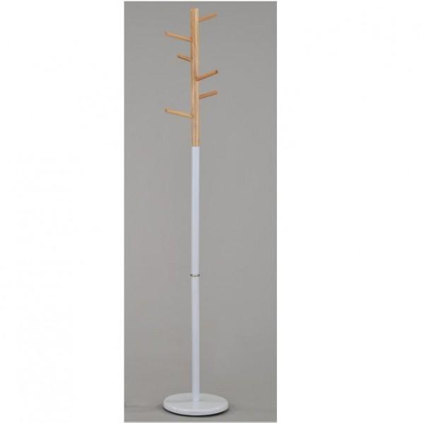 Vešiak, drevo prírodné/kov biely, HORST
