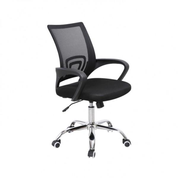 TEMPO KONDELA Kancelárska stolička, sieťovina čierna/čierna, DEX 2 NEW