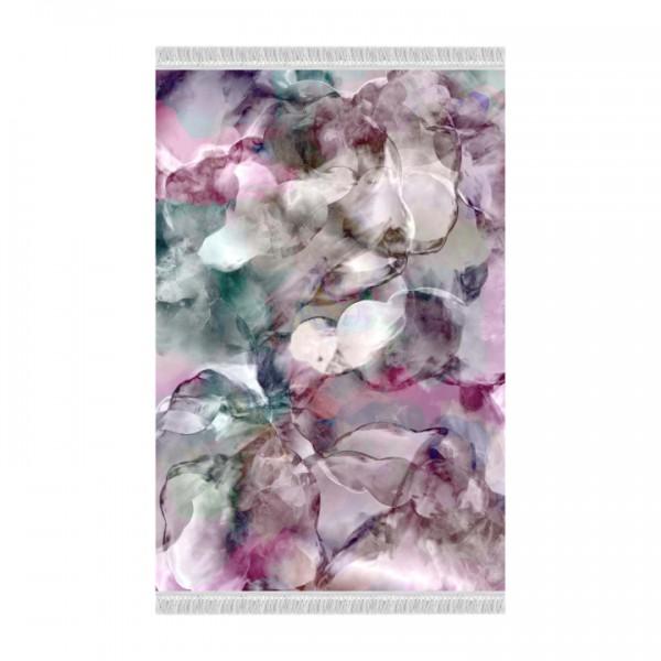 Koberec, ružová/zelená/krémová/vzor, 180x270, DELILA
