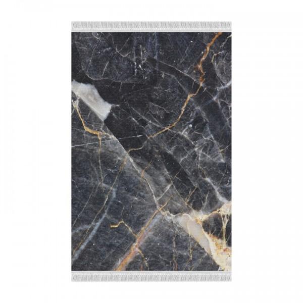 Koberec, vzor čierny mramor, 120x180, RENOX TYP 1