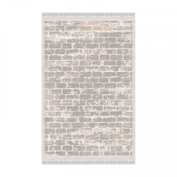 Koberec, sivá/vzor tehla, 120x180, MURO