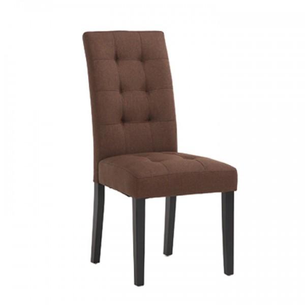 TEMPO KONDELA Jedálenská stolička, hnedá/čierna, REFINA