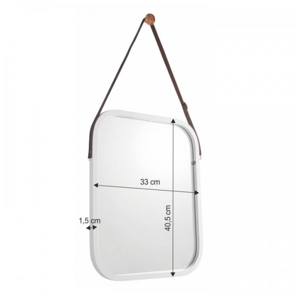 TEMPO KONDELA Zrkadlo, bambus/biela, LEMI 2