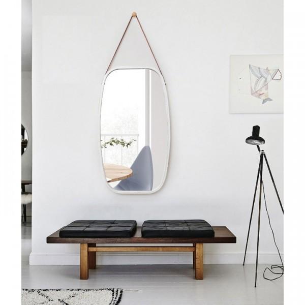 TEMPO KONDELA Zrkadlo, bambus biela, LEMI 3