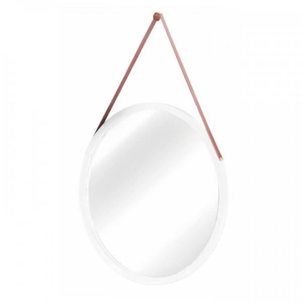 TEMPO KONDELA Zrkadlo, bambus biela, LEMI 1