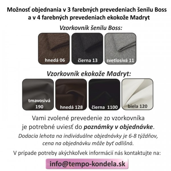 TEMPO KONDELA Sedacia zostava 3+2+1, ekokoža biela/tmavosivá látka, MONO