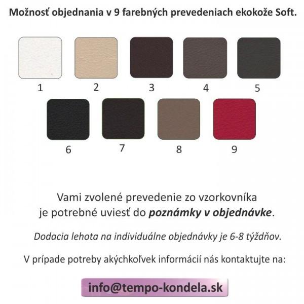 Sedacia súprava, biela/krémová/púdrová ružová, ľavá, BRATO