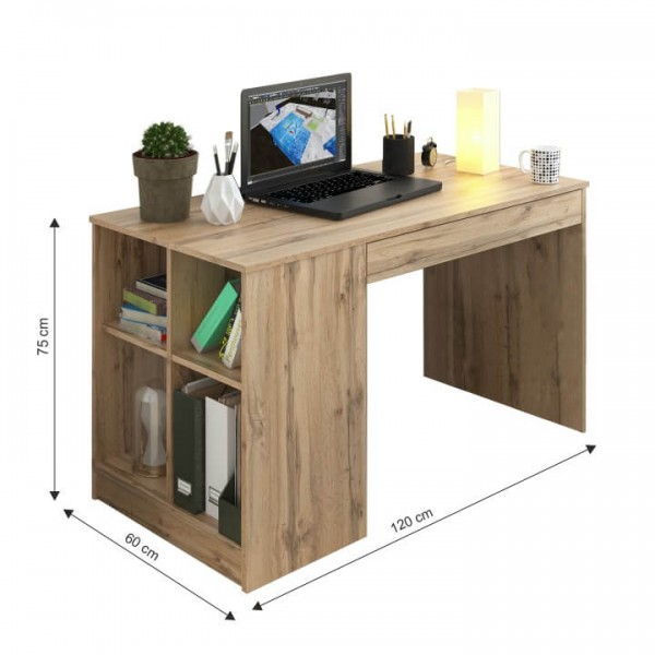 PC stôl, dub wotan, VENDI