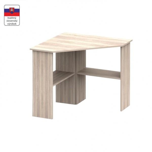 TEMPO KONDELA PC stôl, rohový, dub sonoma, RONY NEW