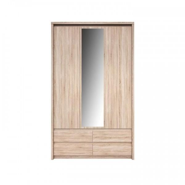 Skriňa so zrkadlom 3D4S, Dub sonoma, NORTY TYP 1