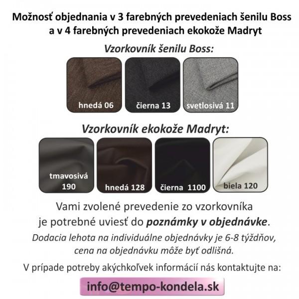 TEMPO KONDELA 2-sed, ekokoža biela/tmavosivá látka, MONO