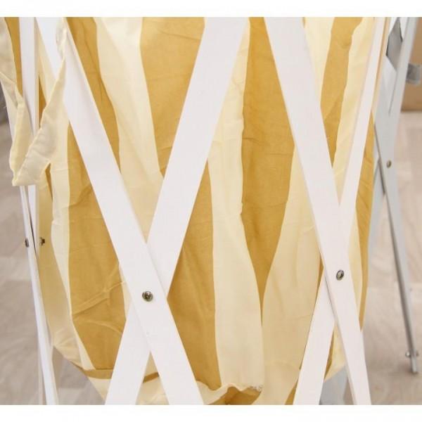 Skládací kôš na prádlo, biela, DZIMBO 3