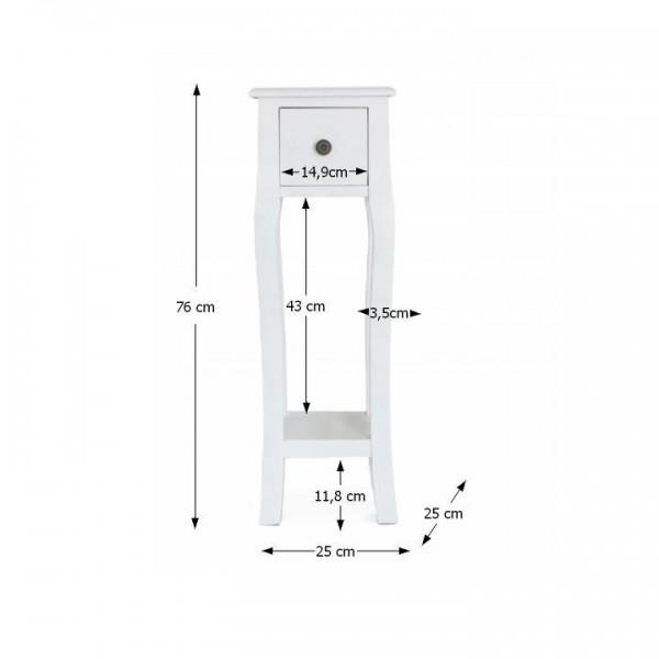 TEMPO KONDELA Toaletný stolík/toaletka, biela, WAGNER 3