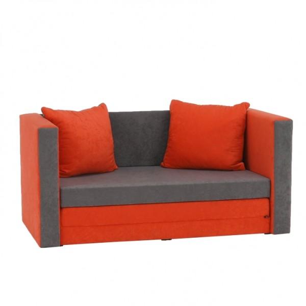Rozkladacia pohovka, oranžová/sivá, KATARINA NEW