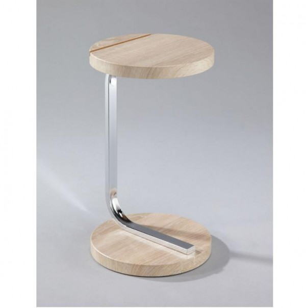 Príručný stolík na tablet, dub sonoma, MILANA