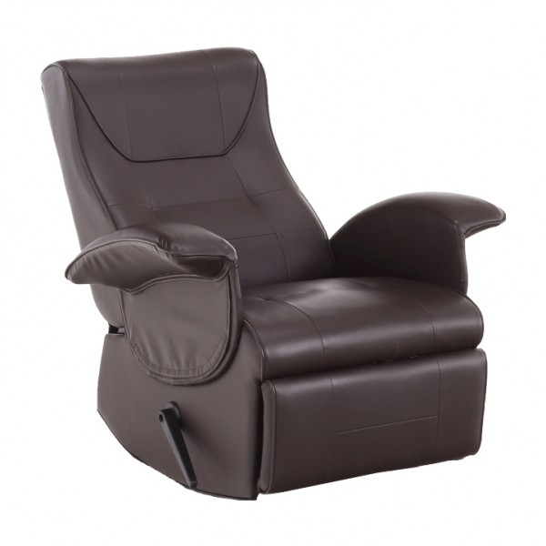 Relaxačné kreslo, hnedá ekokoža , ROMELO C3