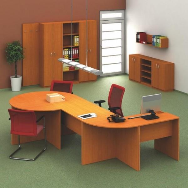 Zasadací stôl 120, čerešňa, TEMPO ASISTENT NEW 021 ZA