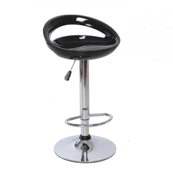 Barová stolička, čierna/chróm, DONGO NOVE