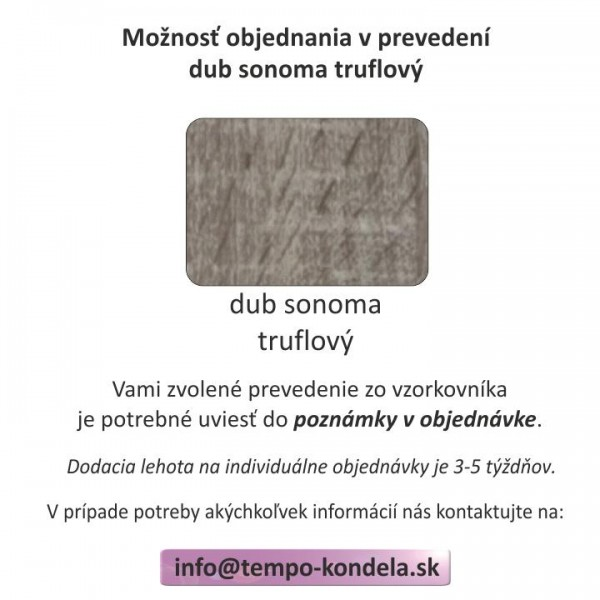 Komoda, dub lefkas tmavý, MONTANA K3D