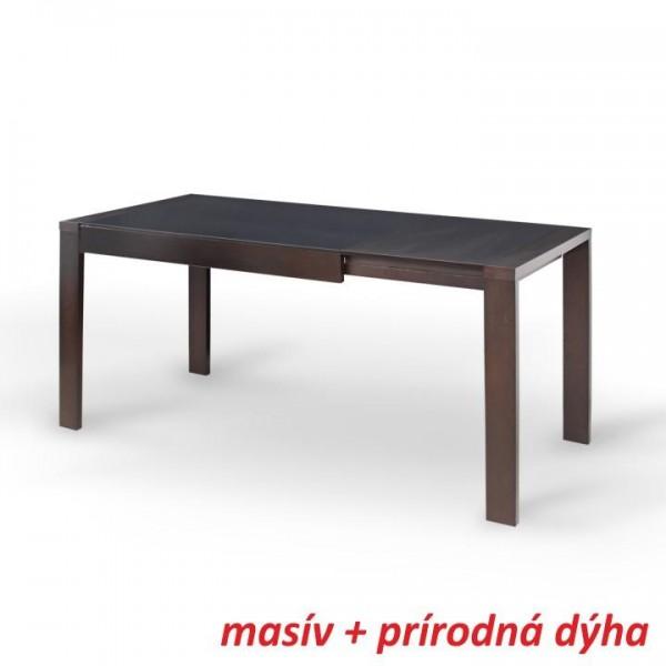 Jedálenský stôl, rozkladací, wenge/čierne sklo, JANADAN