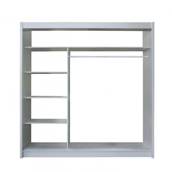 Skriňa s posúvacími dverami, biela/čierna, MERINA 203