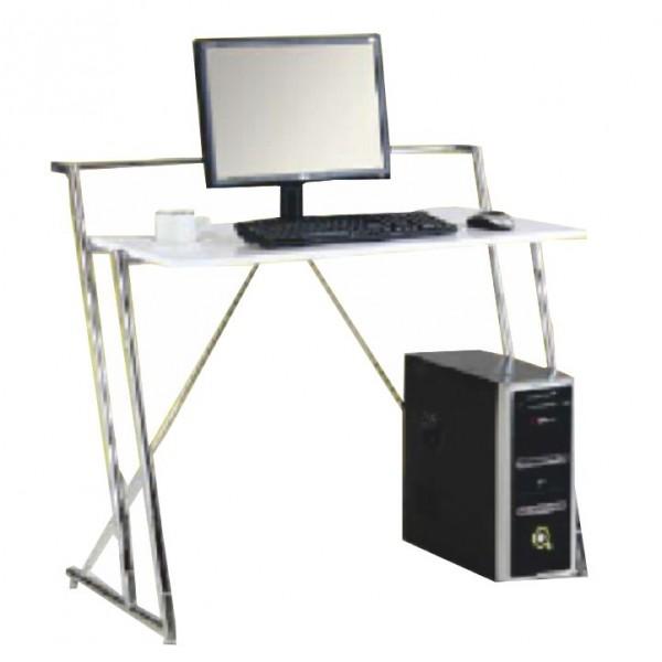 PC stôl, biela extra vysoký lesk HG, ZIVO