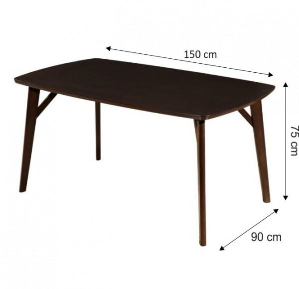 Jedálenský stôl, 150x90, wenge, URAN