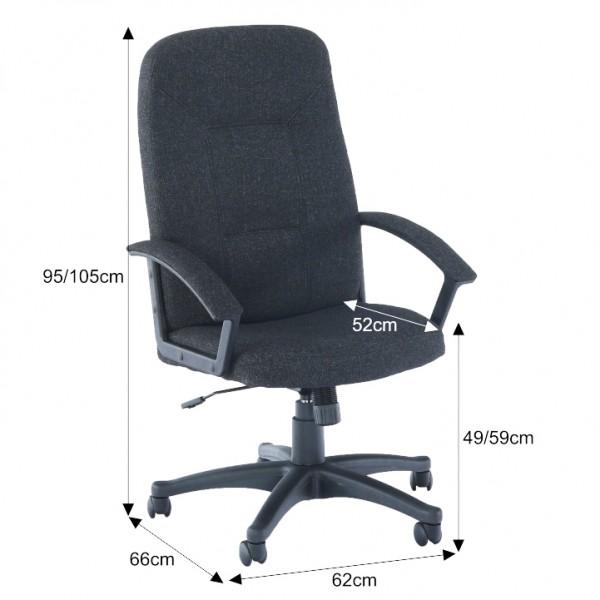 Kancelárske kreslo, sivočierna, TC3-867F