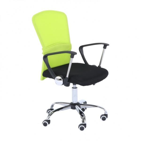TEMPO KONDELA Kancelárske kreslo, zelená/čierna, AEX