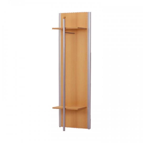 Vešiakový panel, buk, strieborný, LISSI TYP 10