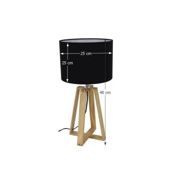 Stolná lampa, čierna, JADE Typ 3 6033-15B